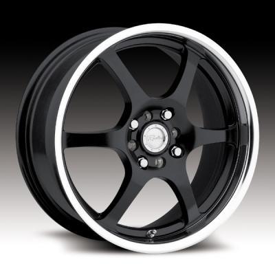 126 Black/Mirror Lip Tires