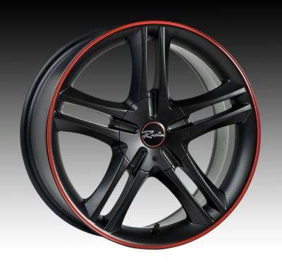 195 Black w/Red Stripe Tires